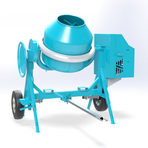 Endothermic concrete mixer (Diesel / Gasoline) 350 lt - C 360 TT of Concrete mixers Linea Plus by OMAER