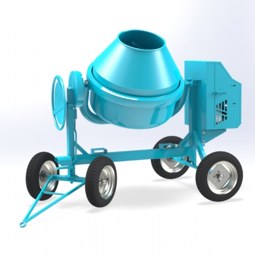 Diesel concrete mixer 350 lt - C 500 4RP of Concrete mixers Linea Plus by OMAER