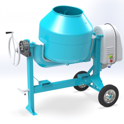 Electric concrete mixer 260 lt - C 320 SR of Concrete mixers with silent transmission by OMAER