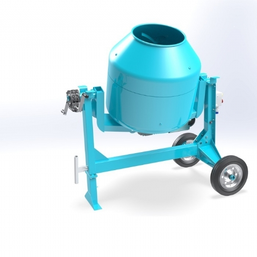 Electric concrete mixer C360 SBL of Concrete mixers with silent transmission by OMAER