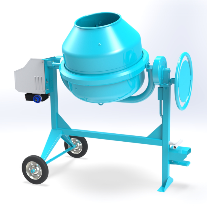 Electric concrete mixer 140 lt -  C 190 of Concrete mixers with traditional transmission by OMAER
