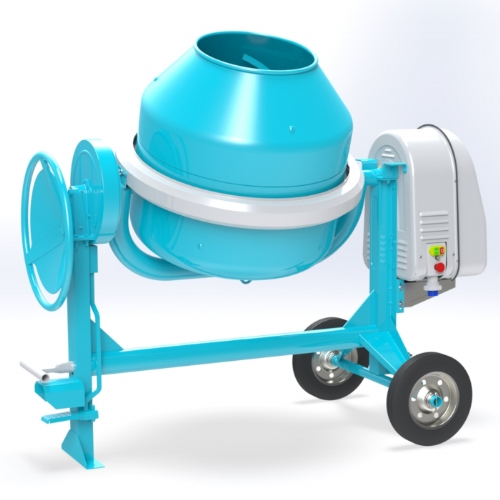Electric concrete mixer 300 lt - C 360 of Concrete mixers with traditional transmission by OMAER