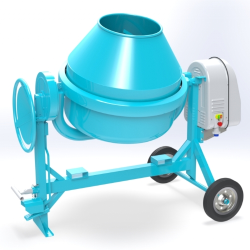 Electric concrete mixer 350 lt - C 500