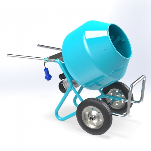 Wheelbarrow Cement Mixer 65 lt - C 140 CARR of Hobby Concrete Mixers by OMAER